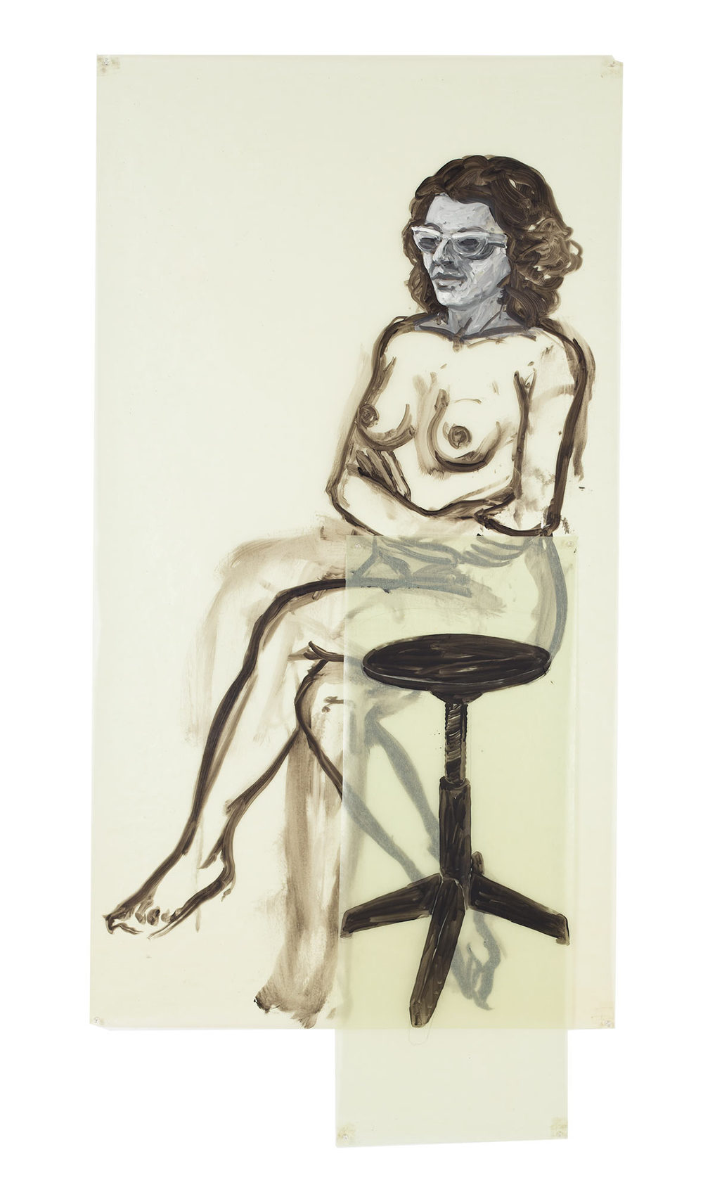 Flo, 1978. Oil on Glassine. 33 x 68 in. (84 x 173 cm.)