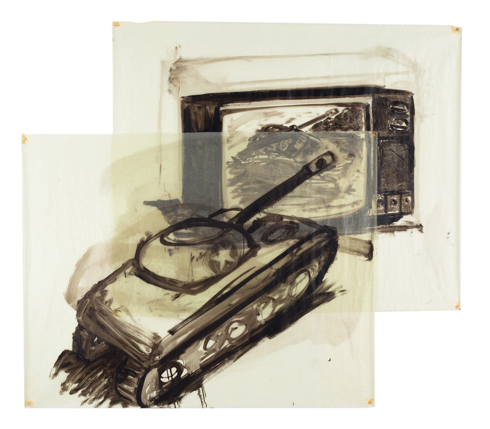 War Toys, 1981. Oil on Glassine. 52 1/2 x 59 1/2 in. (133 x 151 cm.)