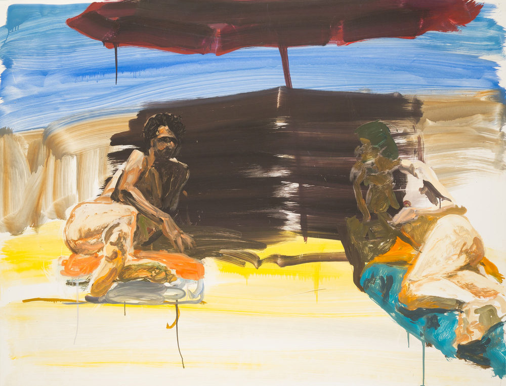 Study for Couples In and Out of Sun, 1985.