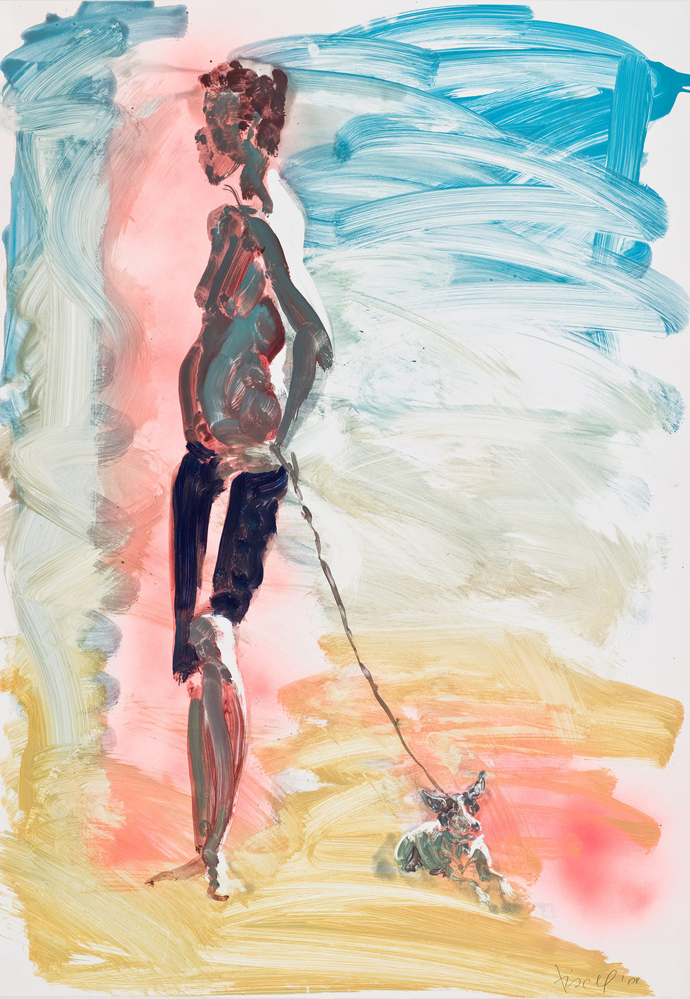 Untitled (young guy and his dog), 2008.