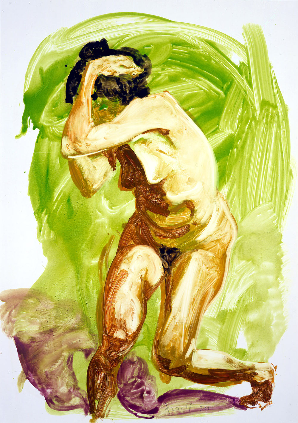 Untitled (Cringing/Twisting), 2001.