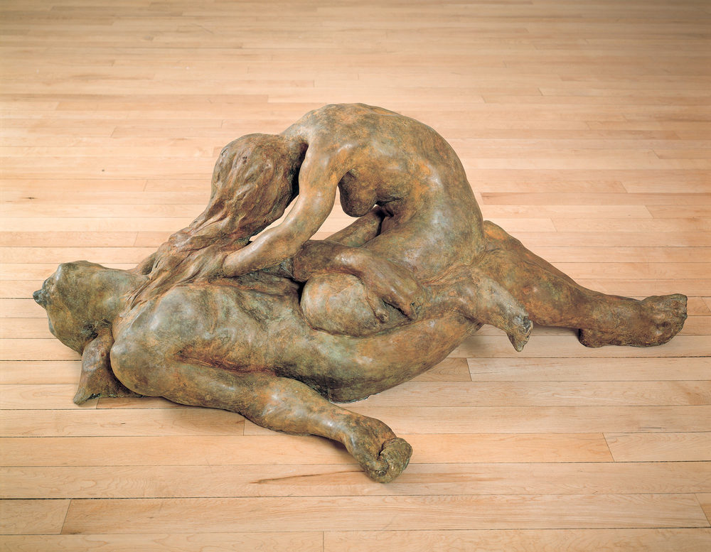 Hysterics of Love, 1997. Bronze. 21 x 28 x 54 inches