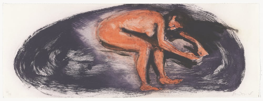 "Untitled, 1985. Aquatint. 11 5/8 x 31 5/8"" (29.5 x 80.3cm)"