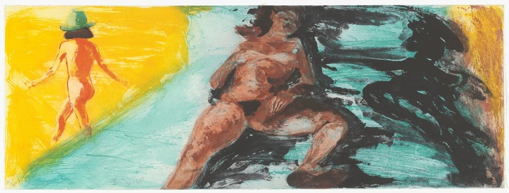"Untitled, 1985. Aquatint. 11 5/8 x 31 5/8"" (29.5 x 80.4cm)"