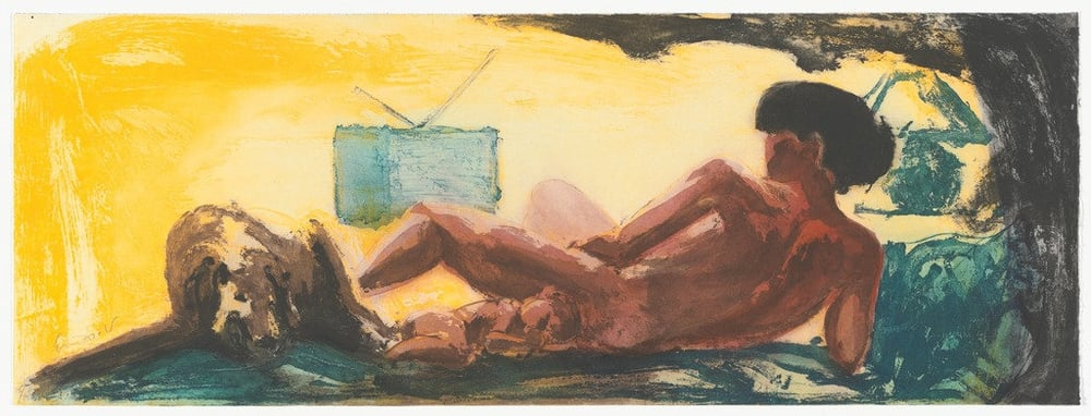 "Untitled, 1985. Aquatint. 11 5/8 x 31 9/16"" (29.6 x 80.2cm)"