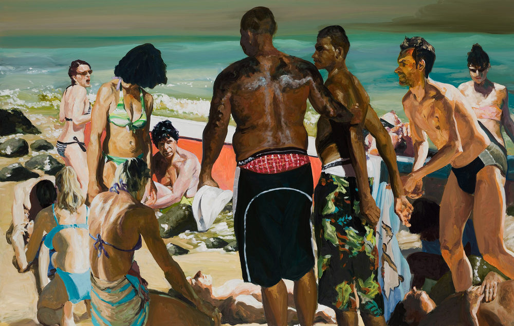 Scenes From Late Paradise: Beached, 2007. Oil on linen. 76 x 120 in. (193 x 305 cm.)