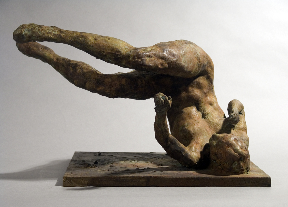 Tumbling Woman (maquette), 2001. Bronze 12 x 18 x 14 in