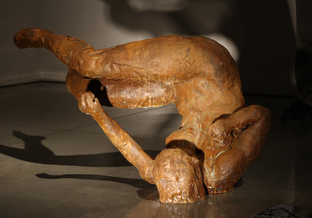 Ten Breaths: Tumbling Woman II, 2007. Bronze 25 1/2 x 47 1/2 x 26 in.