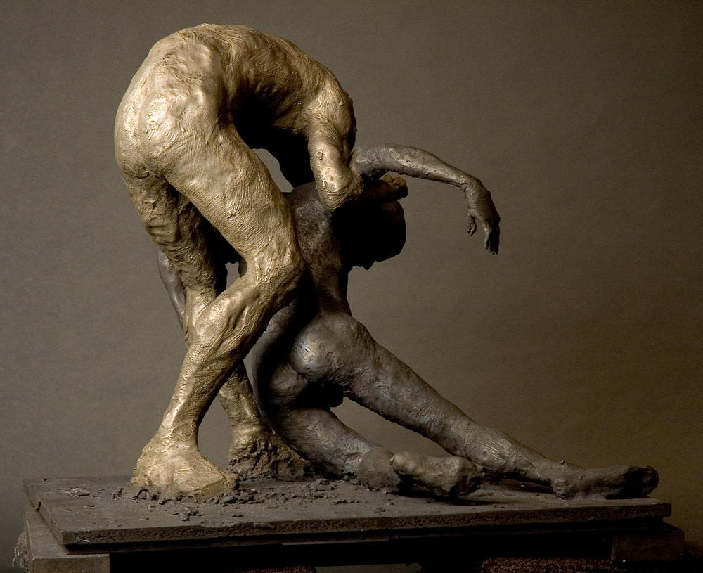 Study for Samaritan, 2005. Bronze 29 3/8 x 28 x 30 in.