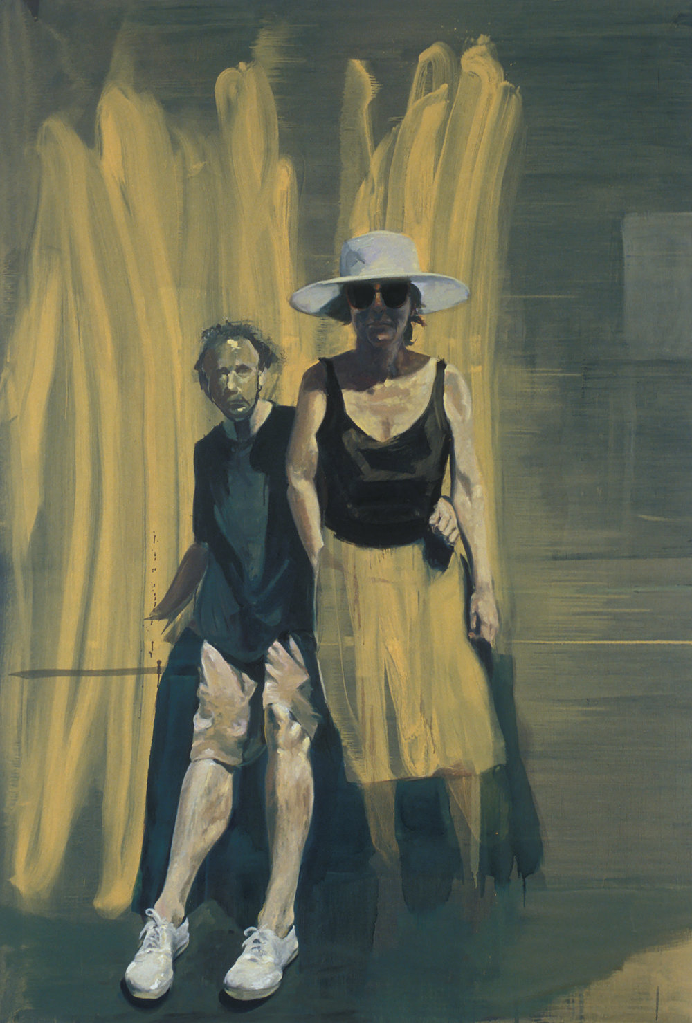 Portrait of Jerry and Roberta, 1989. Oil on linen. 110 x 75 in.