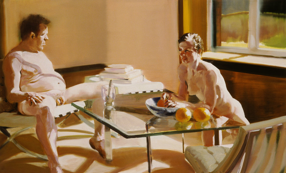 Krefeld Project; Sunroom, Scene #3, 2002. Oil on linen. 40.5 x 65 in. (103 x 165 cm)