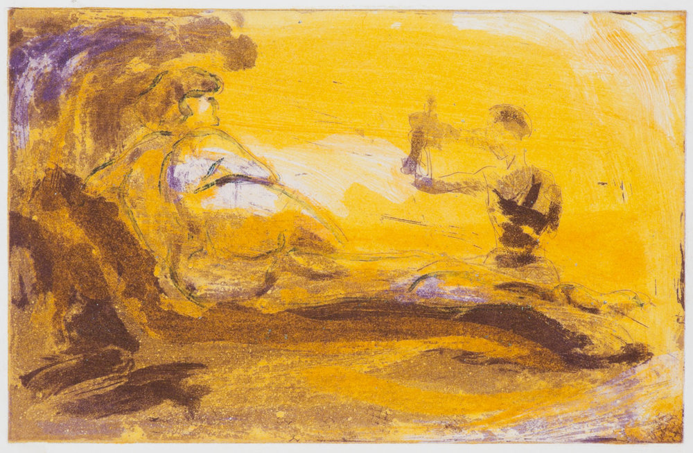Floating Islands Proof for Puppet Tears, 1985. Study proof J, 6.25 x 9.75 inches