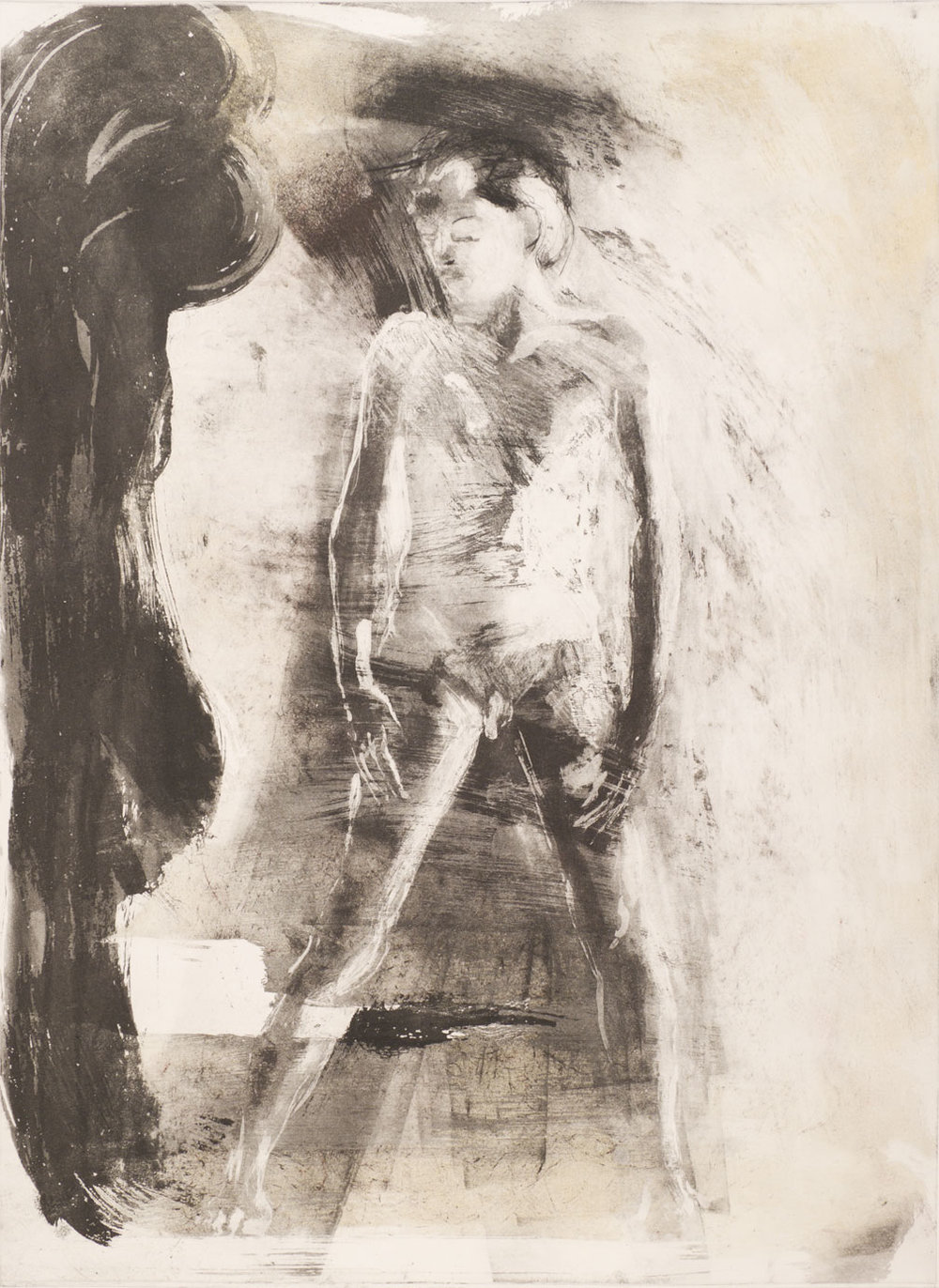 Floating Islands George Platt Lynes Figure, 1985. Etching on paper, study proof D, 30 x 21 inches