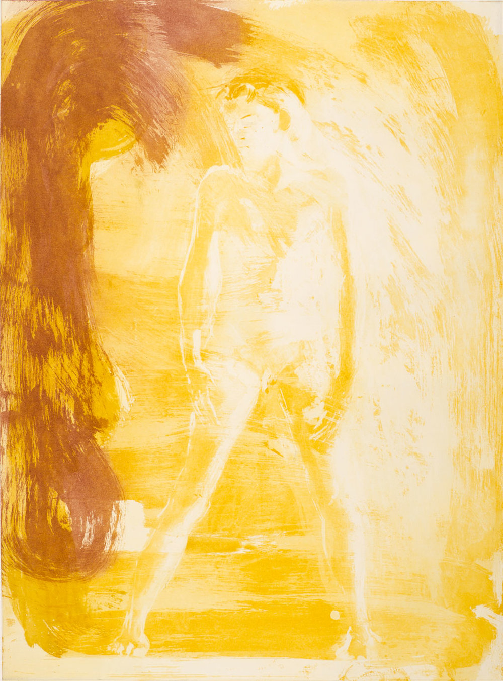 Floating Islands George Platt Lynes Figure, 1985. Etching on paper, study proof E, 30 x 21 inches