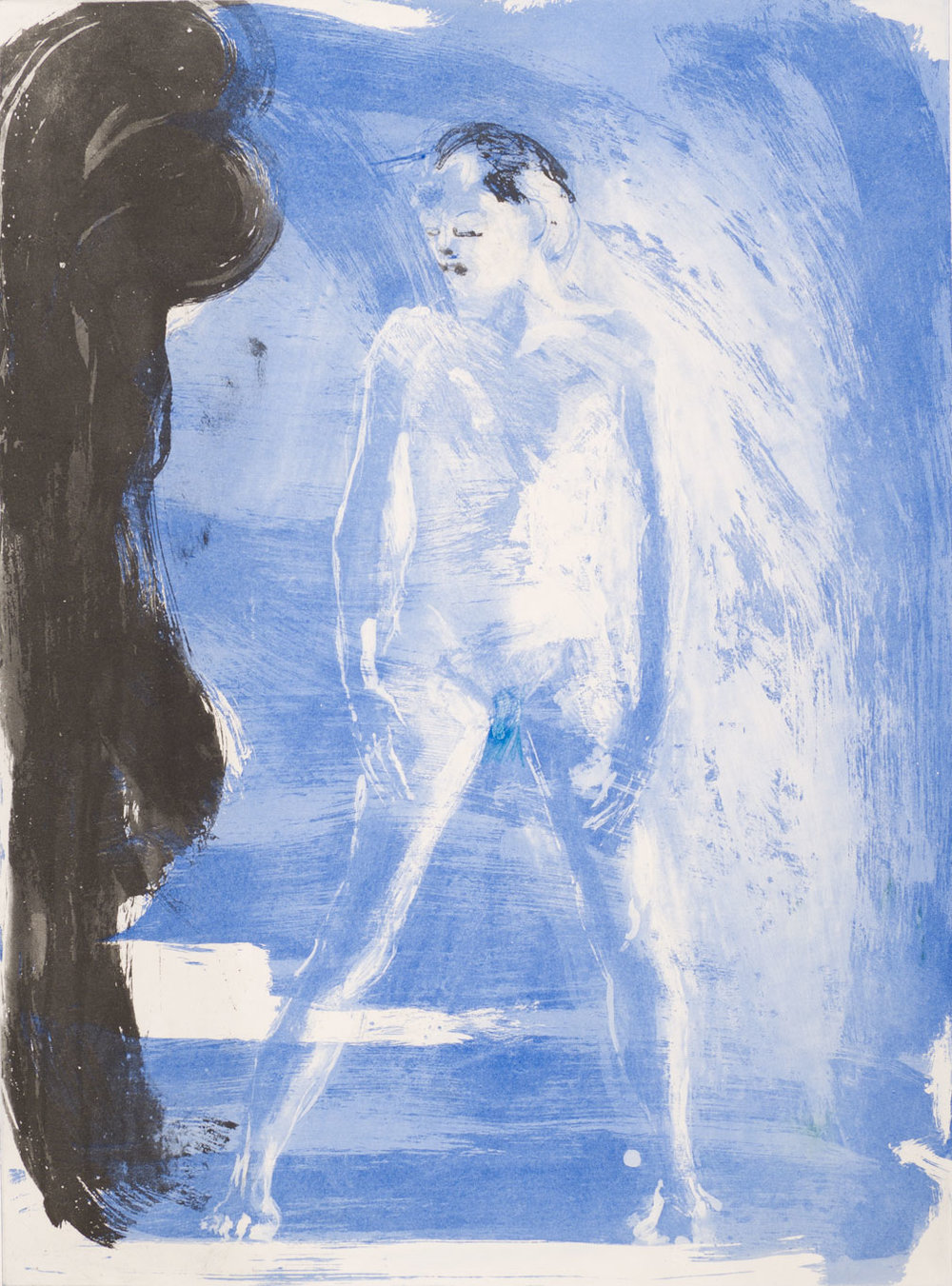 Floating Islands George Platt Lynes Figure, 1985. Etching on paper, study proof H, 30 x 21 inches
