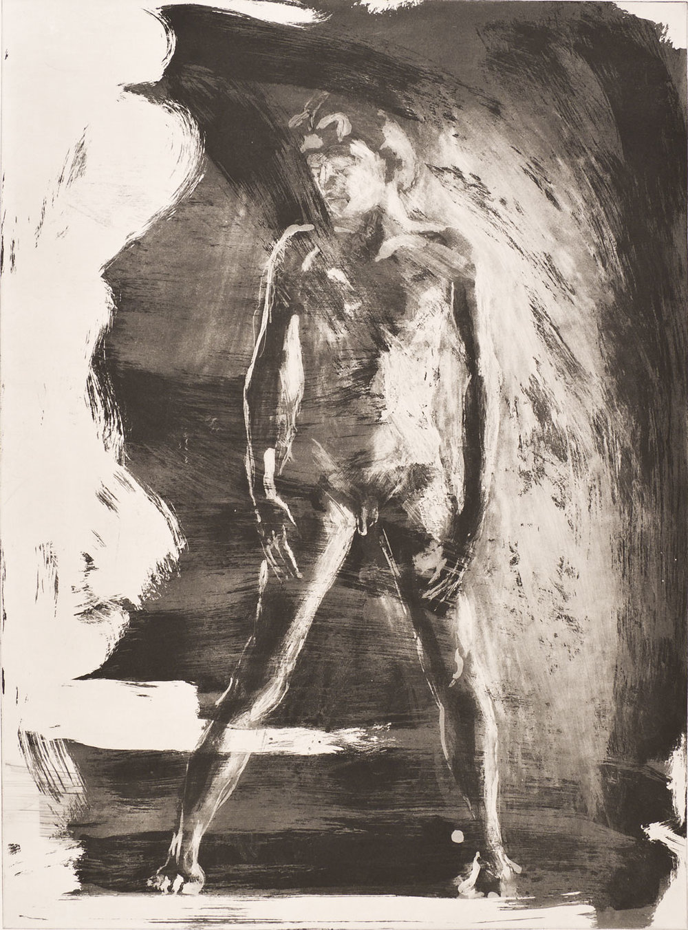 Floating Islands George Platt Lynes Figure, 1985. Etching on paper, study proof J, 30 x 21 inches
