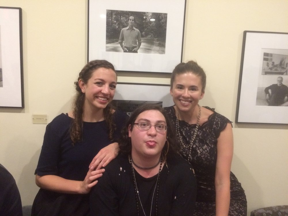Poetry Editor, Jessica Modi with Former Poetry Editors, Chase Berggrun and Linda H. Dolan.
