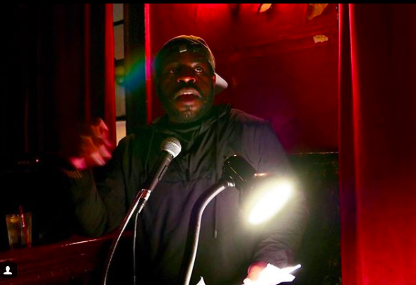 Image: Annabel Graham  Hanif Willis-Abdurraqib reading at KGB on March 2, 2018.