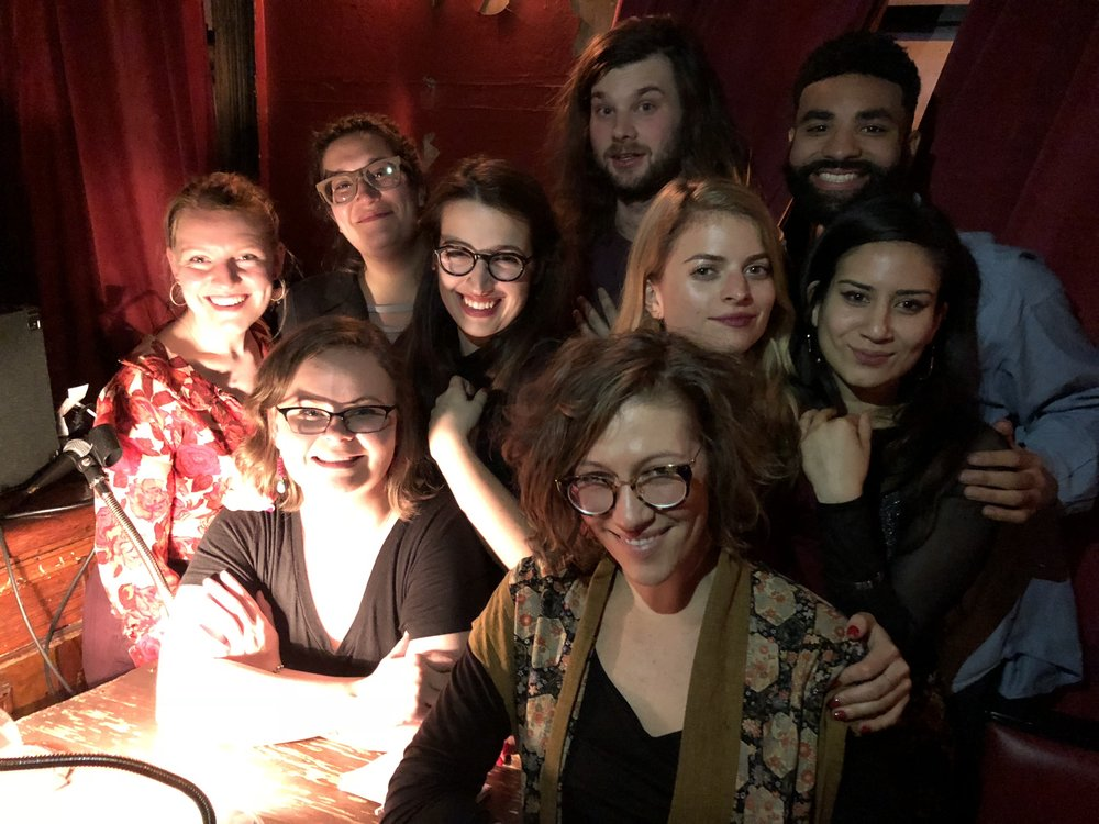 Back Row: Carmen Maria Machado, John Liles, Kyle Lopez. Middle Row: Marney Rathbun, Hannah Gilham, Annabel Graham, Aria Aber. Front Row: Megan Swenson, Mallory Imler Powell.   More photos at the  Emerging Writers Reading Series Instagram .