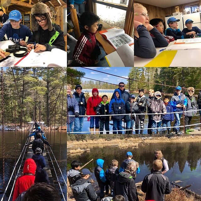 Grades 5 & 6 enjoying Outdoor Education at Camp Au Sable.