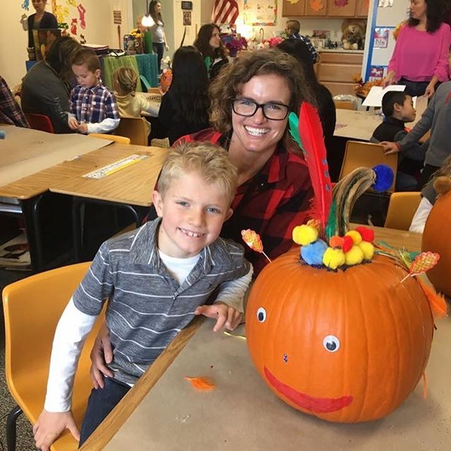 Mrs. Grimsley's K-2 class had fun decorating pumpkins with their moms at the K-2 Pumpkin Party on Friday!!!