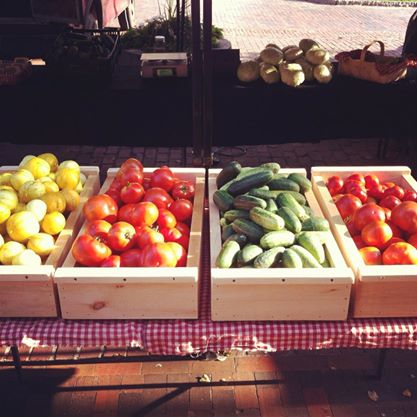 Organic vegetables available at our farmers' market both