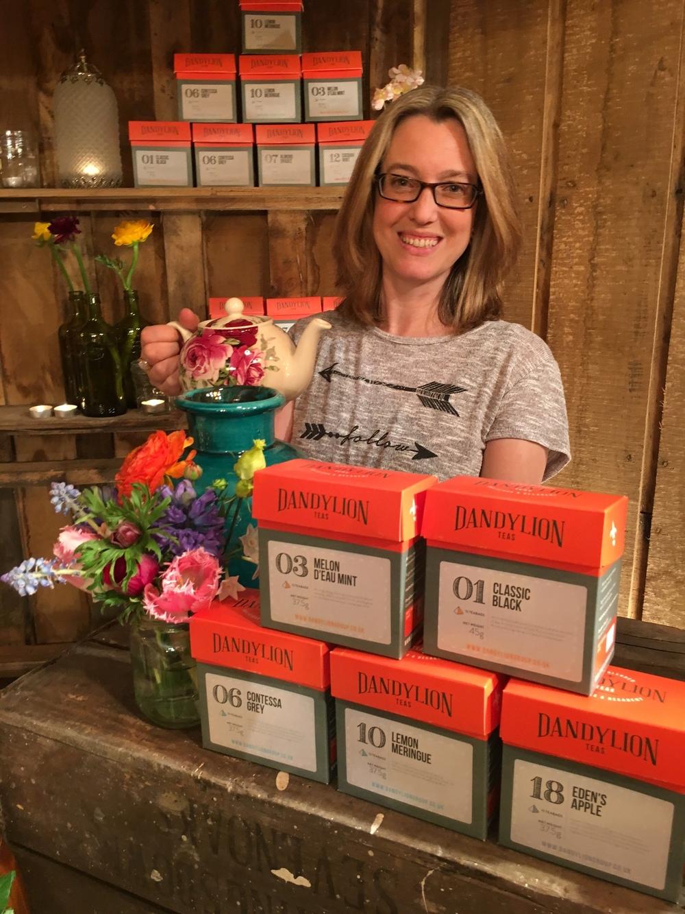 Francesca Booth Dandylion Teas artisan tea blended in Kent