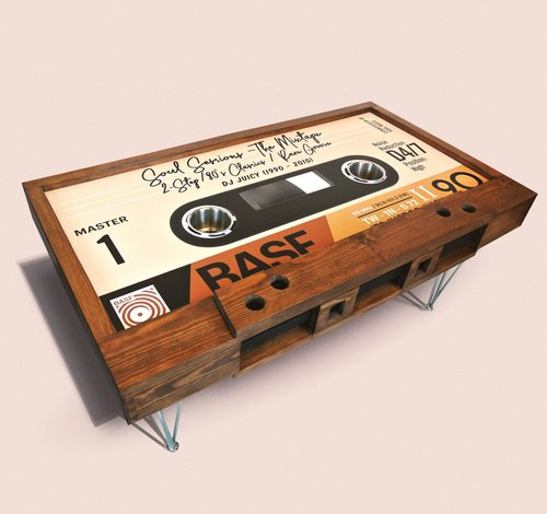 unique wooden electronics custom cassette up up square