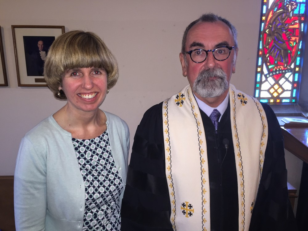 Rev. Lara Scholey and Rev. Dr. Laurence DeWolfe