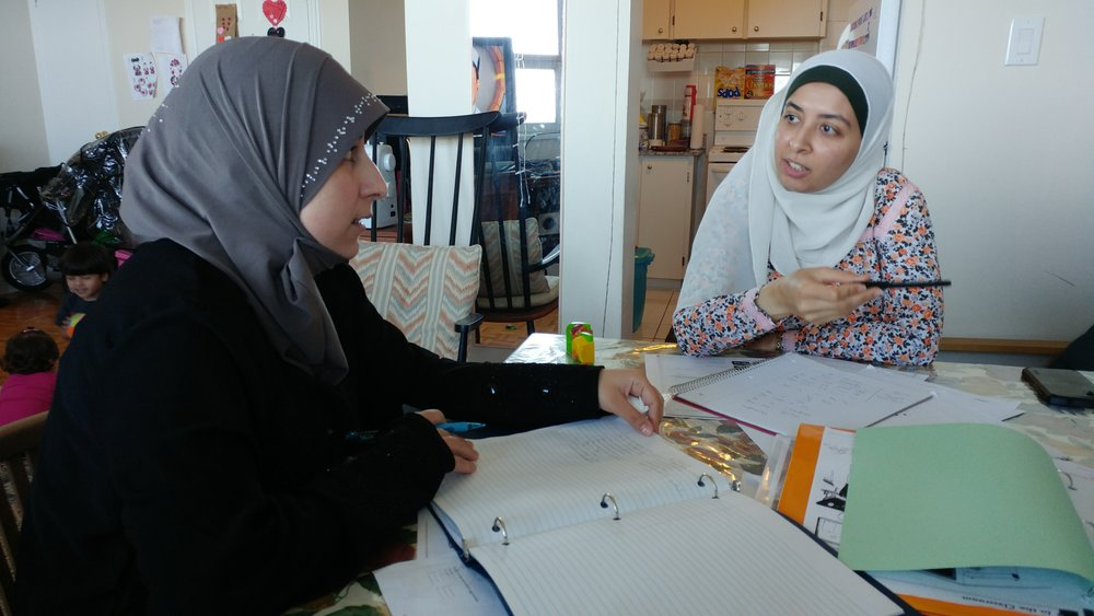 Rawaa and Nahla tackle the English language