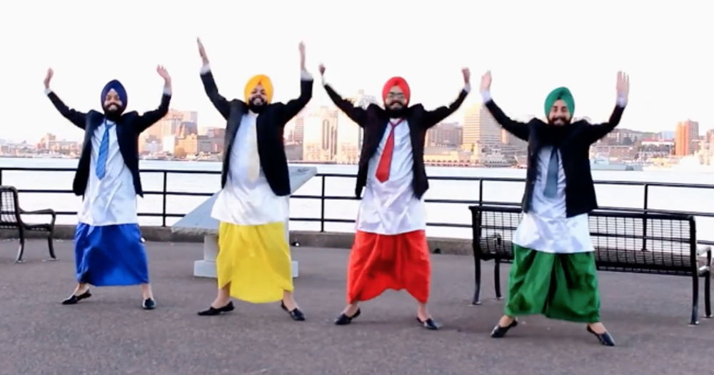 The Maritime Bhangra Group on the Halifax Waterfront