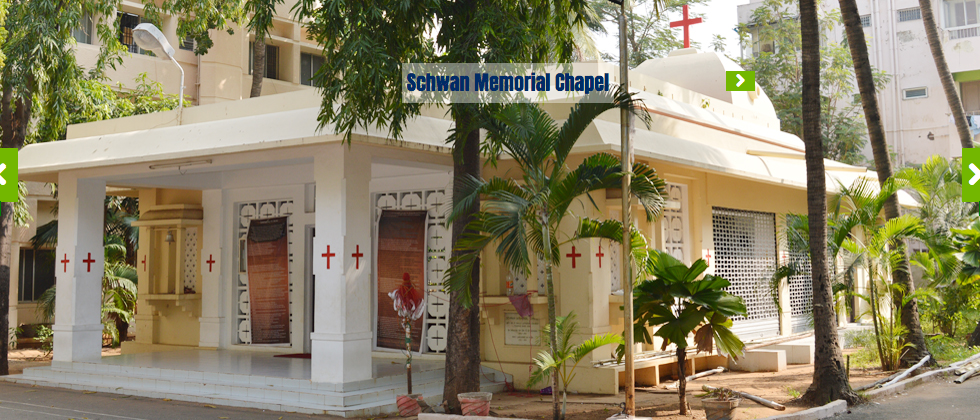 The Chapel at Gurukul Theological College in Chennai. We'll be teaching at Gurukul February 8 & 9.