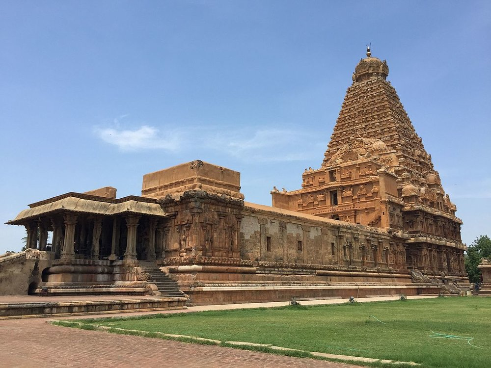 Brihadeeswarar Temple in Tanjore (Thanjavur), Tamil Nadu. I'll visit there on February 7. Yes, there's a little sightseeing built into the program.