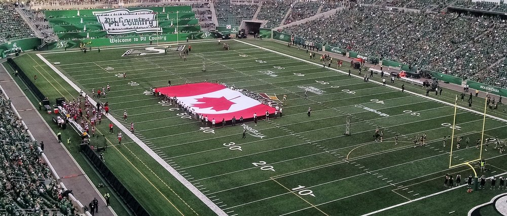 CFL Football Saskatchewan Roughriders vs Calgary Stampeders