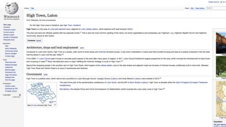 High Town, Luton, Wikipedia
