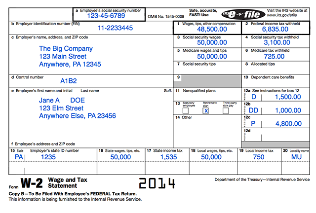 w2 template 2015 What is a W-2? — Common Form - File Your Taxes in Minutes For Free
