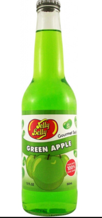 Delicious green apple jelly belly soda Pop!