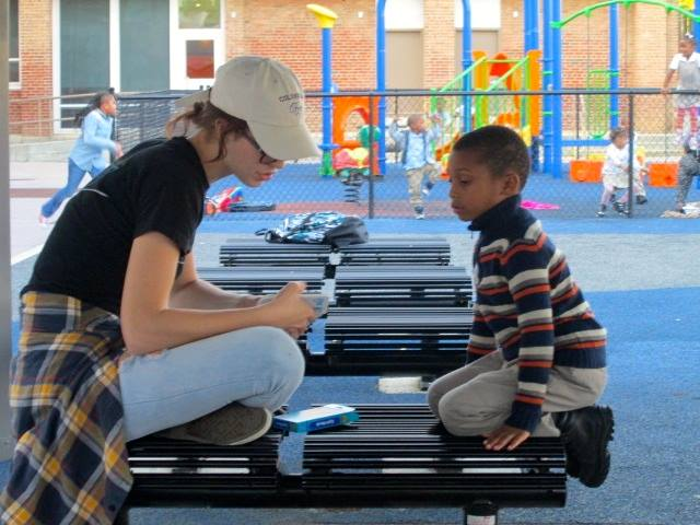 Alainna volunteering at U.S. Dream Academy