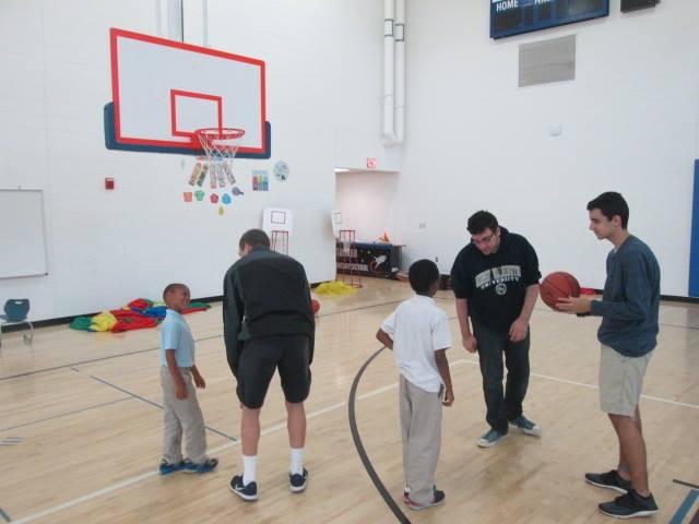 Playing Basketball at U.S. Dream Academy
