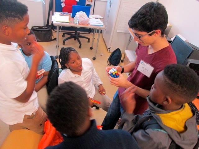 Steven amazes the kids at U.S. Dream Academy