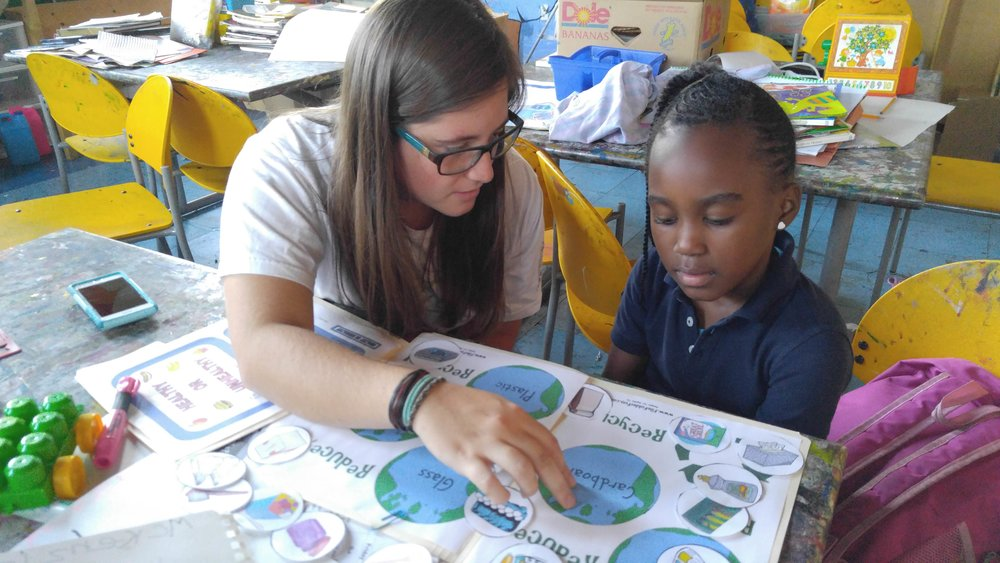 Emily reading at Little Friends For Peace