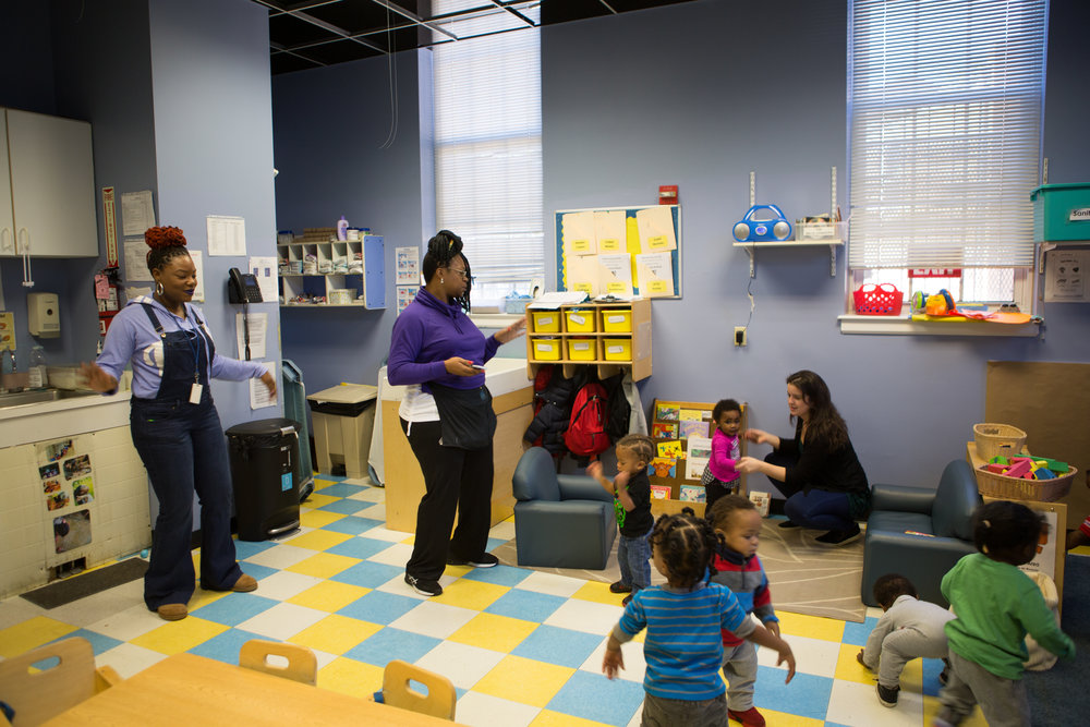 GWU student Lillianna Byington volunteers at Bright Beginnings every Friday. Bright Beginnings is an organization that provides childcare for children living in homeless situations and assists the families living in poverty to find jobs.