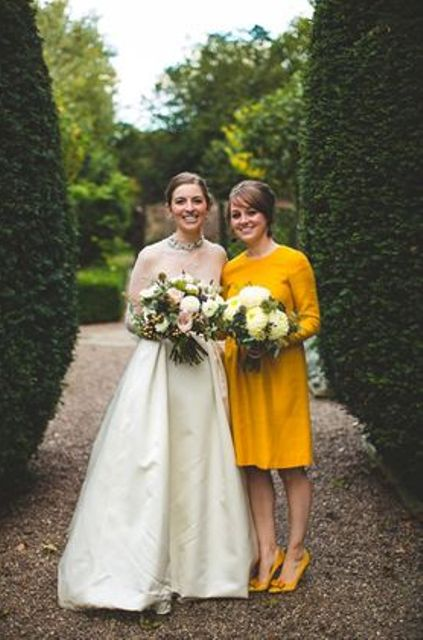 11-long-sleeve-mustard-knee-bridesmaids-dress-and-shoes-for-a-retro-look.jpg