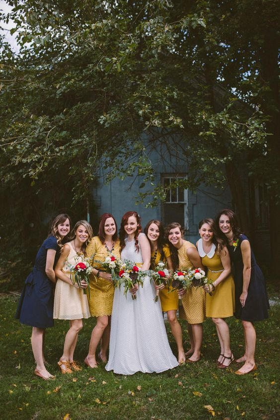 18-navy-and-mustard-mismatching-bridesmaids-dresses.jpg