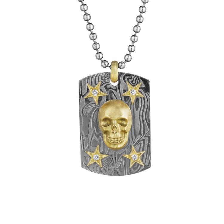 Memento mori dog tag pendant anthony lent memento mori dog tag pendant aloadofball Gallery