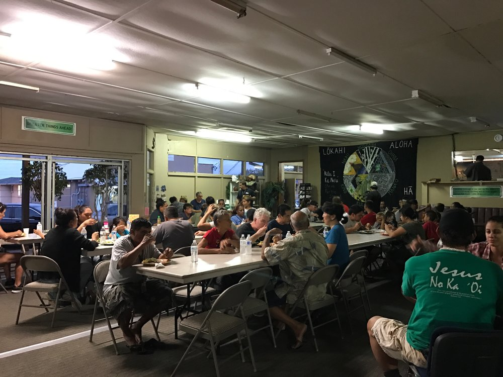 Community dinner.