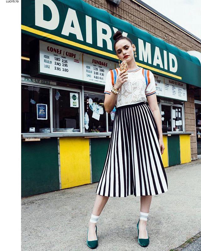 J O Y R I D E // out now @lucysmagazine #styledbyme #photographer @markelzey #hairandmakeup @aliciadane #model @maggieagency @abby_lynn_1 #editorial #stylist #bostonstylist #nycstylist #fashionstylist #icecream #endlesssummer #pradashoes