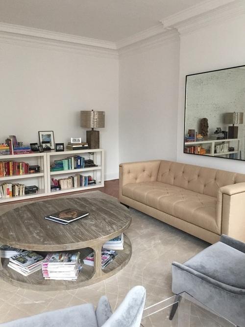 Jun 16, 2015 Living Room Design nyc design, nyc remodel, prewar  restoration, prewar building, modern design, antique mirror Allie Wood  Comment