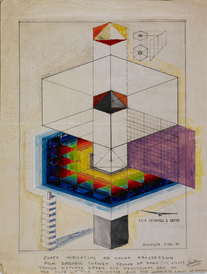"""4D"" Color Drawing of Fuller's"