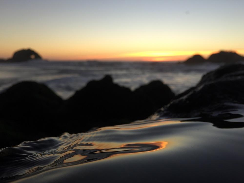 Slide Sunset, Cliff Kuhn-Lloyd (Sutro Baths, San Francisco)